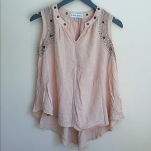 Knox Rose Peach Blouse